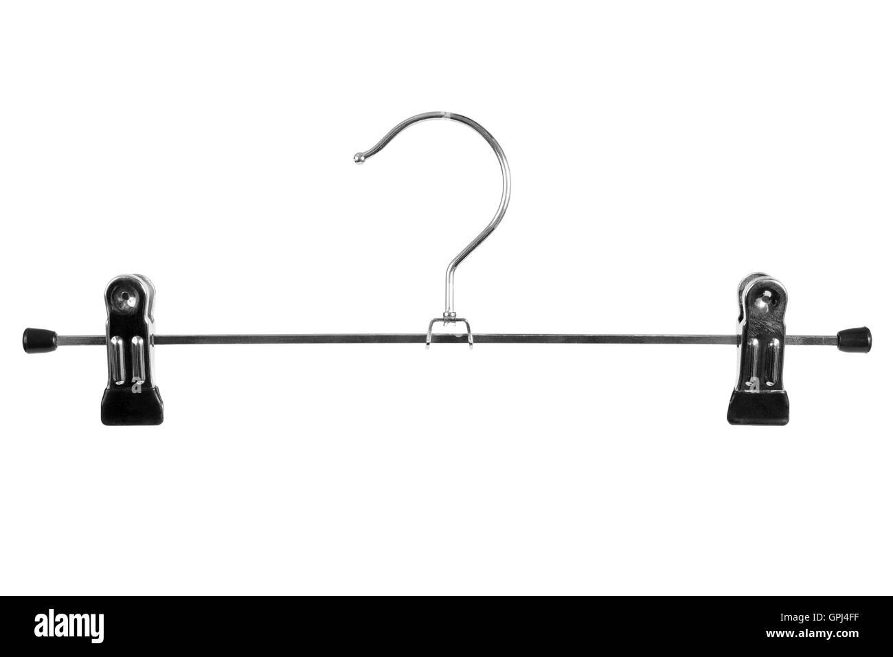 Metal skirt hanger - Stock Image