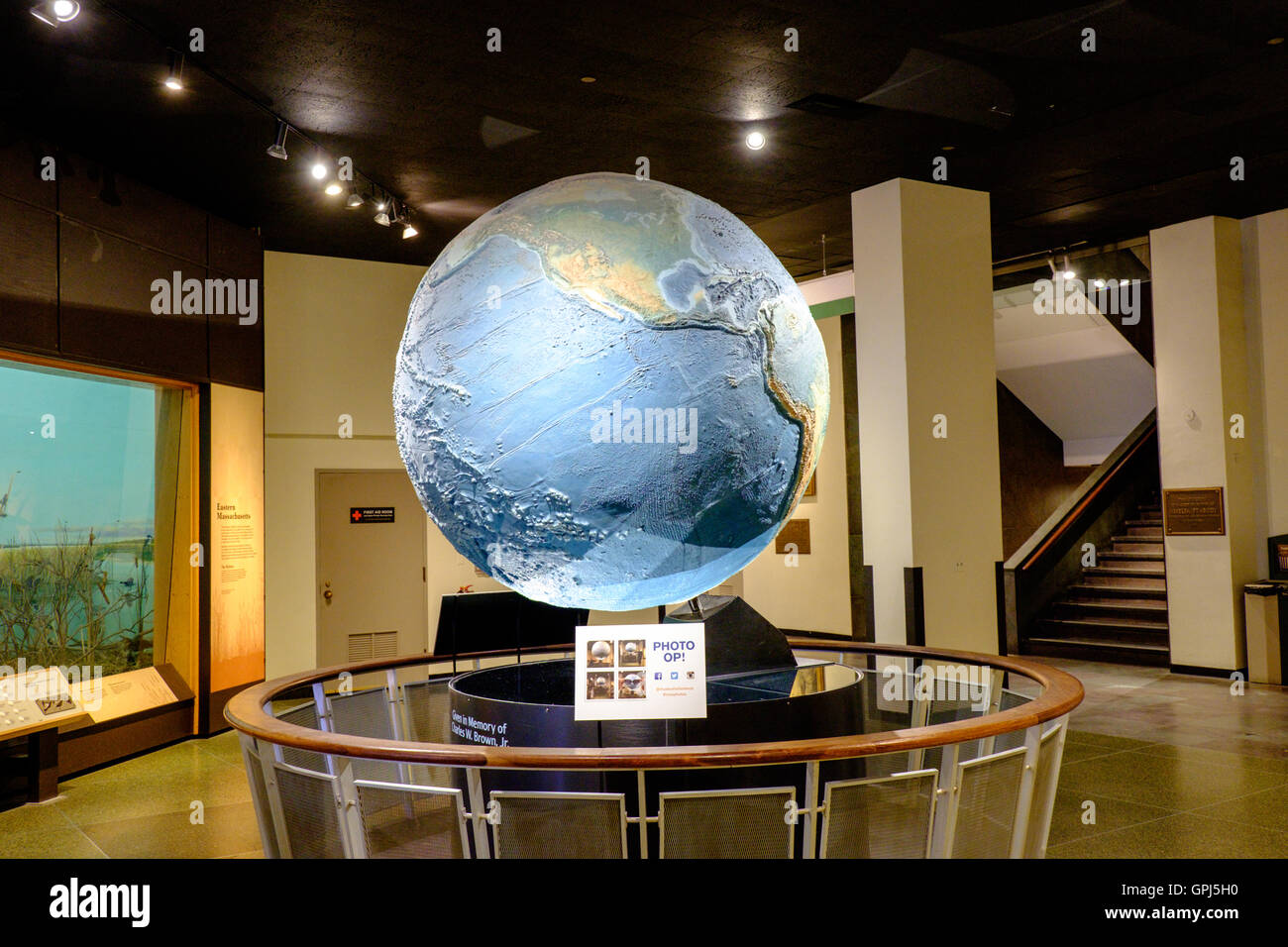 Earth globe in Museum of of Science Boston, USA - Stock Image