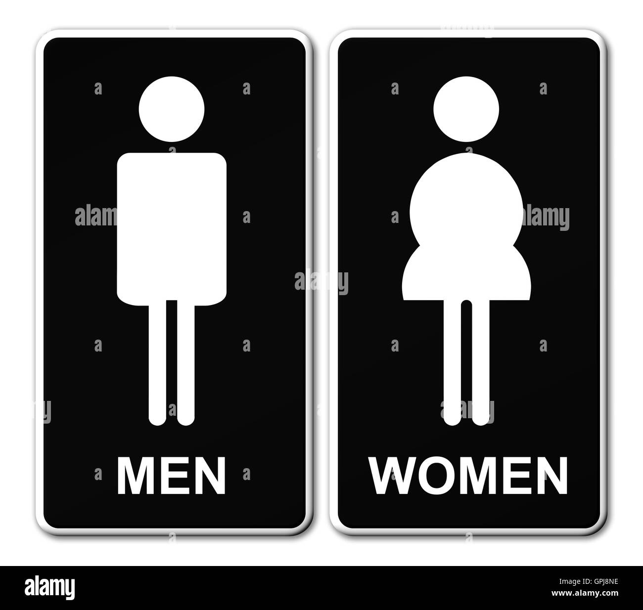 man woman restroom sign stock photo 117186650 alamy