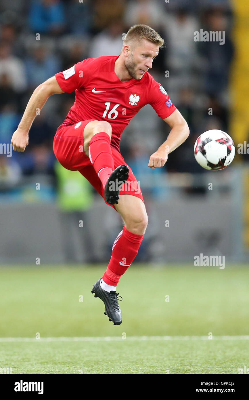 Astana, Kazakhstan. 4th September, 2016. Jakub Blaszczykowski (POL), Kazakhstan versus Poland, FIFA World Cup 2018 qualifier. The game ended in a 2-2 draw Credit:  Action Plus Sports Images/Alamy Live News Stock Photo