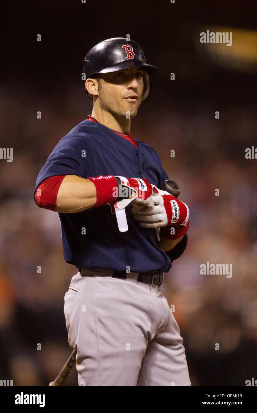 June 25, 2010; San Francisco, CA, USA; Boston Red Sox shortstop ...