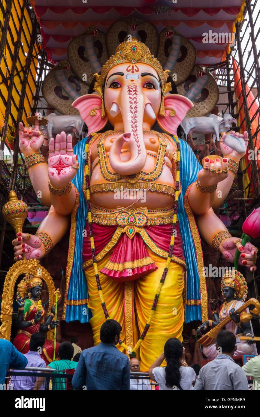 Tallest Ganesh Idol in Hyderabad Stock Photo