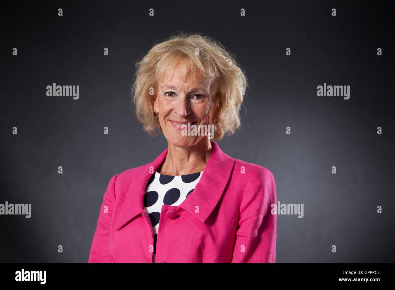 Sue Lawrence, the Scottish cookery and food writer, at the Edinburgh International Book Festival. Edinburgh, Scotland. - Stock Image
