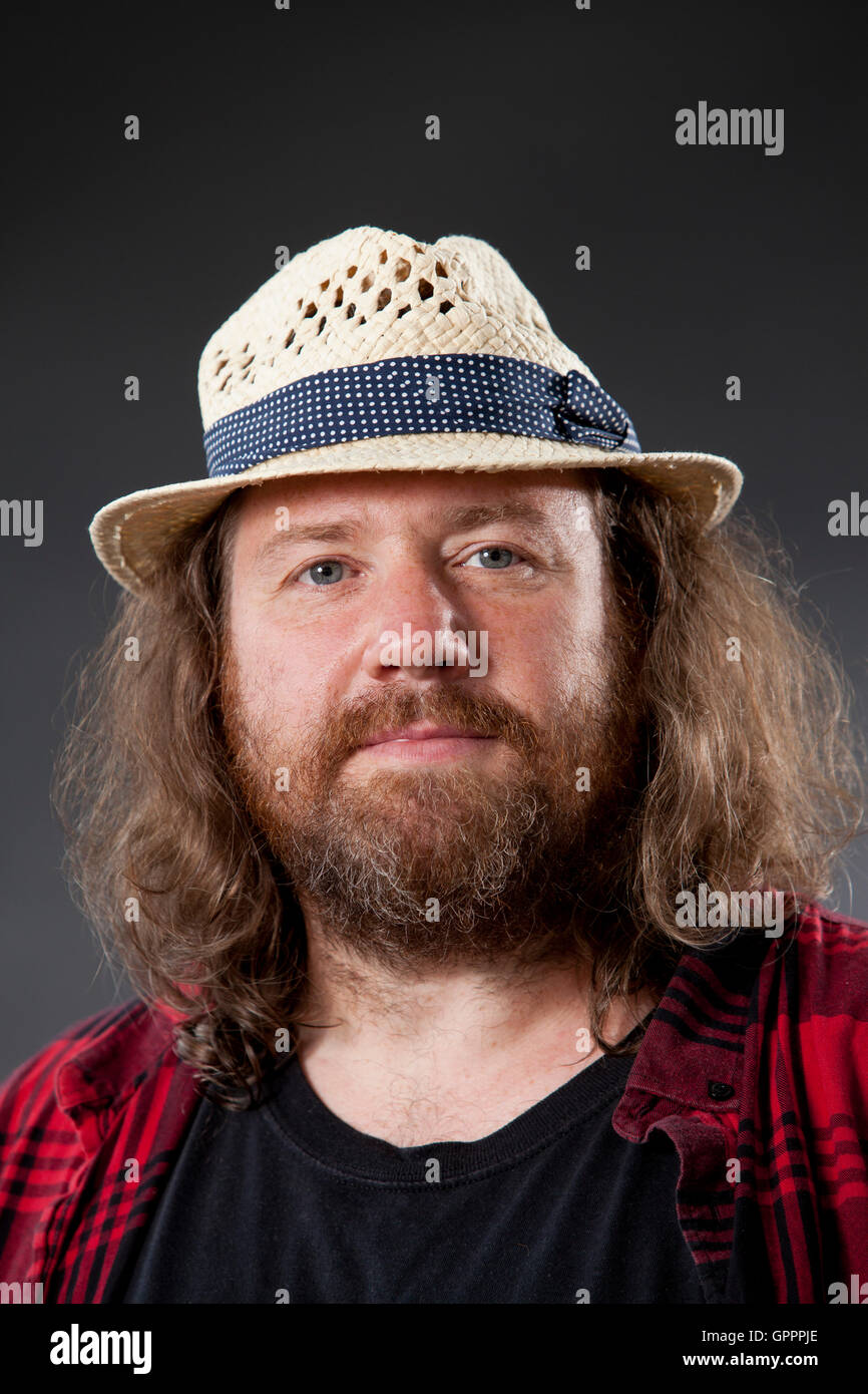 Mike Livesley, the British actor, at the Edinburgh International Book Festival. Edinburgh, Scotland. 20th August - Stock Image