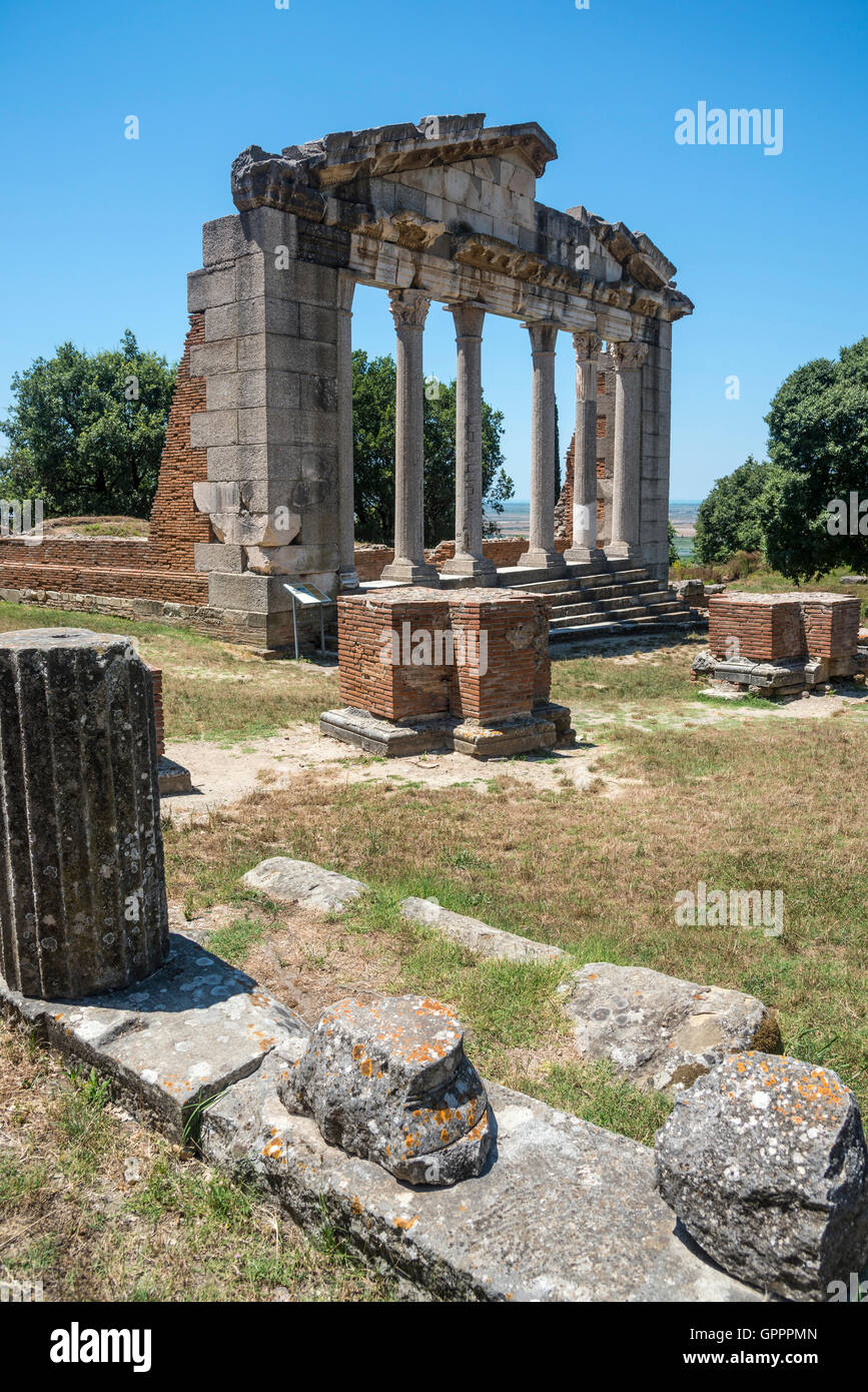 The Monument of Agonothetes at Apollonia near Fier in central Albania. - Stock Image