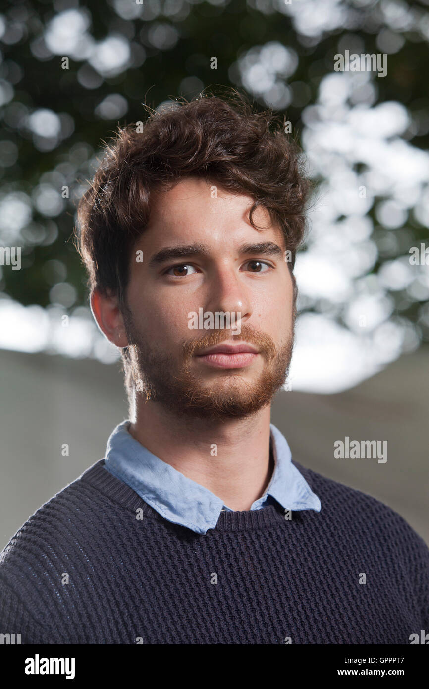 Patrick Kingsley, the Guardian correspondent, at the Edinburgh International Book Festival. Edinburgh, Scotland. - Stock Image
