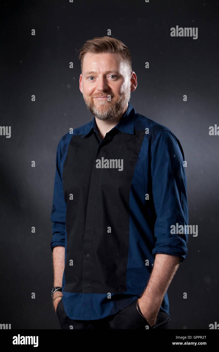 David Roberts, the award-winning illustrator, at the Edinburgh International Book Festival. Edinburgh, Scotland. - Stock Image