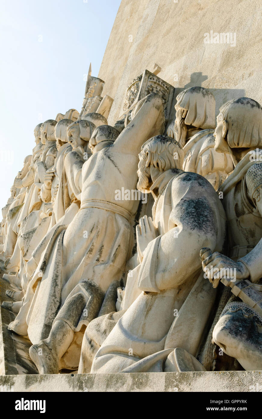Detail of Monument to the Discoveries - Stock Image