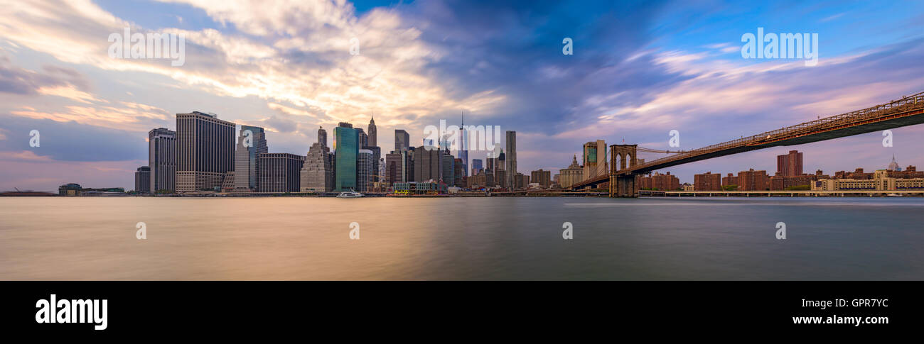 New York City Skyline panorama. - Stock Image