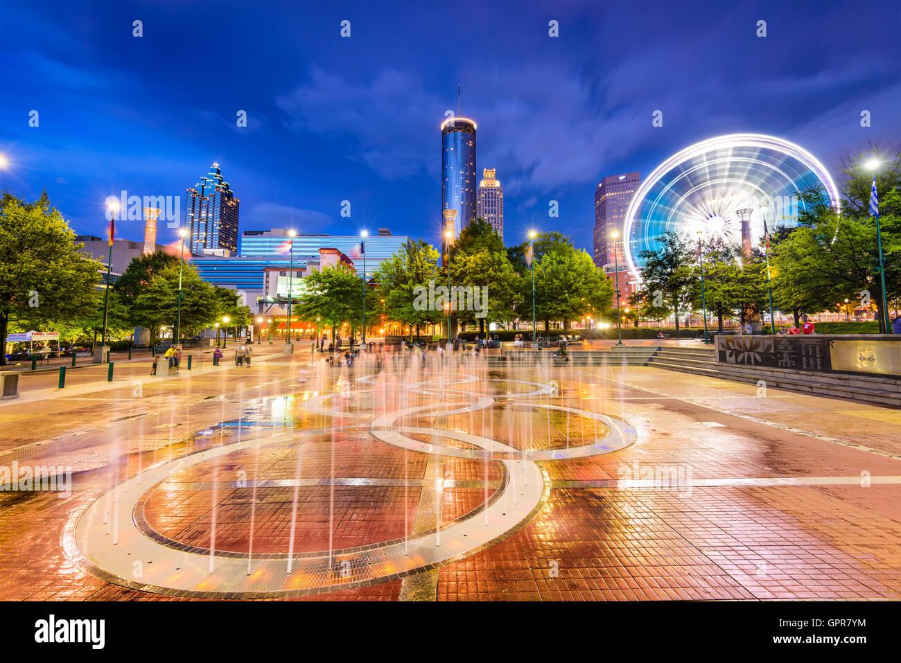 Atlanta, Georgia, USA at Centennial Olympic Park. - Stock Image