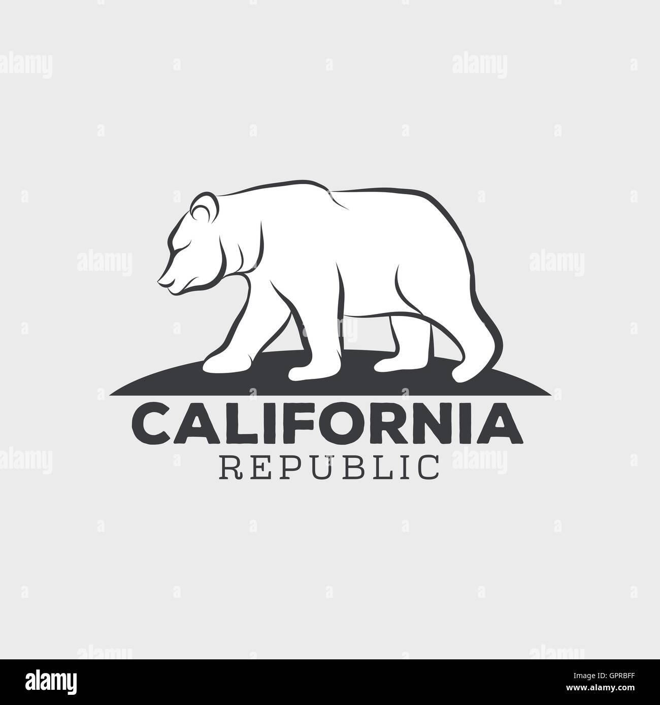 Vintage California Republic Bear With Sunbursts T Shirt Print Graphics