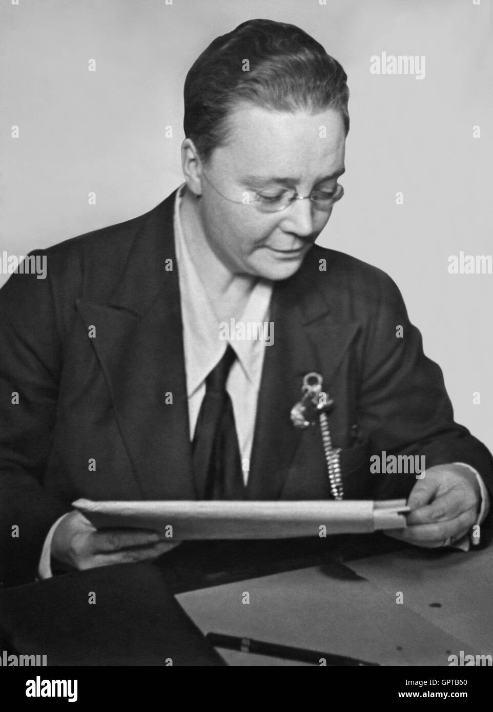 Dorothy Sayers (1893-1957), renowned English writer often considered one of the British authors informally known - Stock Image
