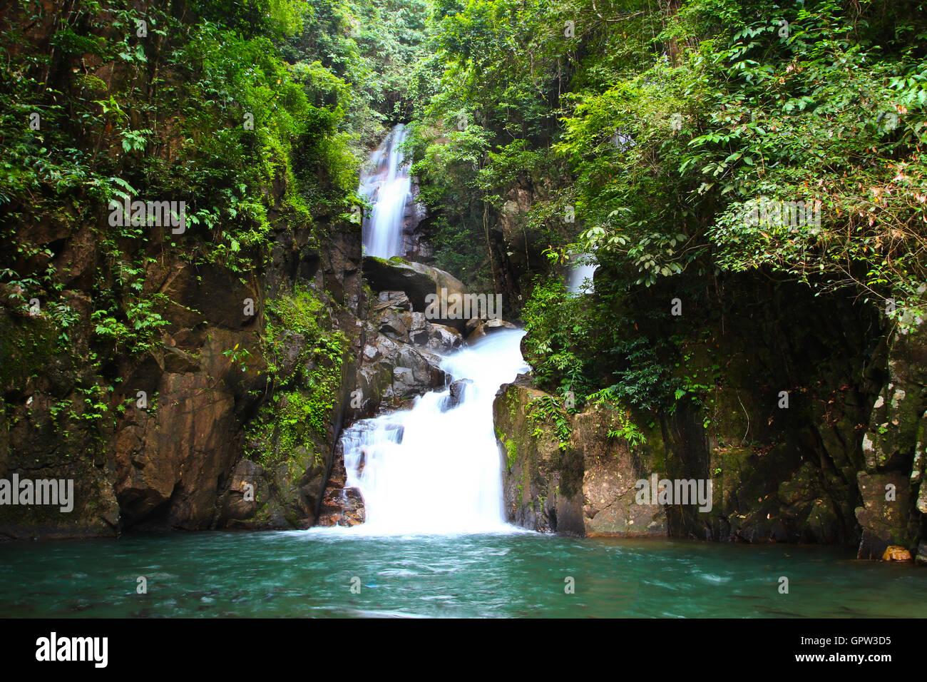 waterfall in national park , Chanthaburi ,Thailand Stock Photo
