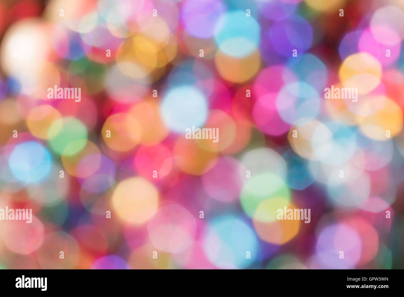 Abstract colorfull blurry Christmas bubbles background - Stock Image