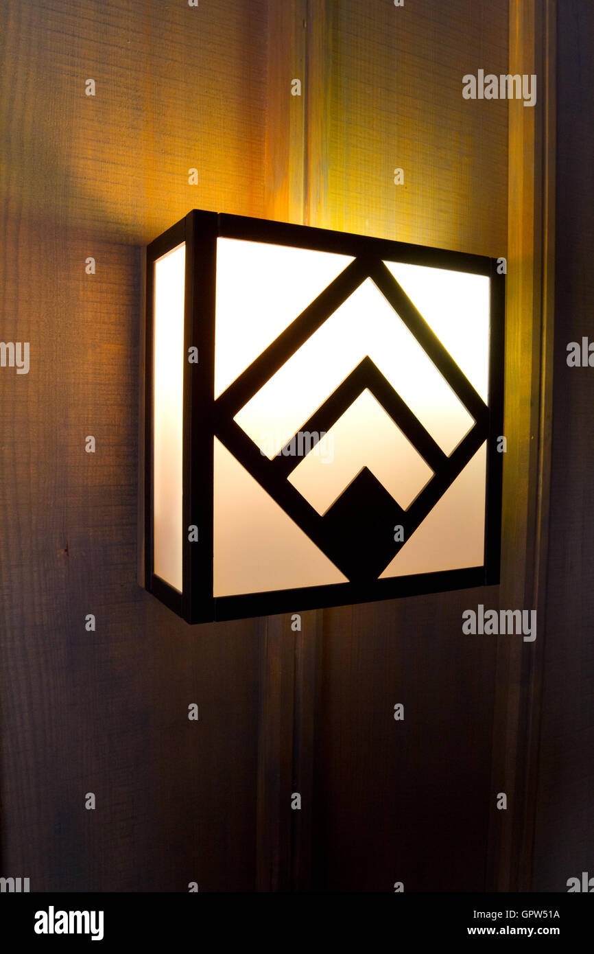 Lodge Light Fixtures Stock Photo