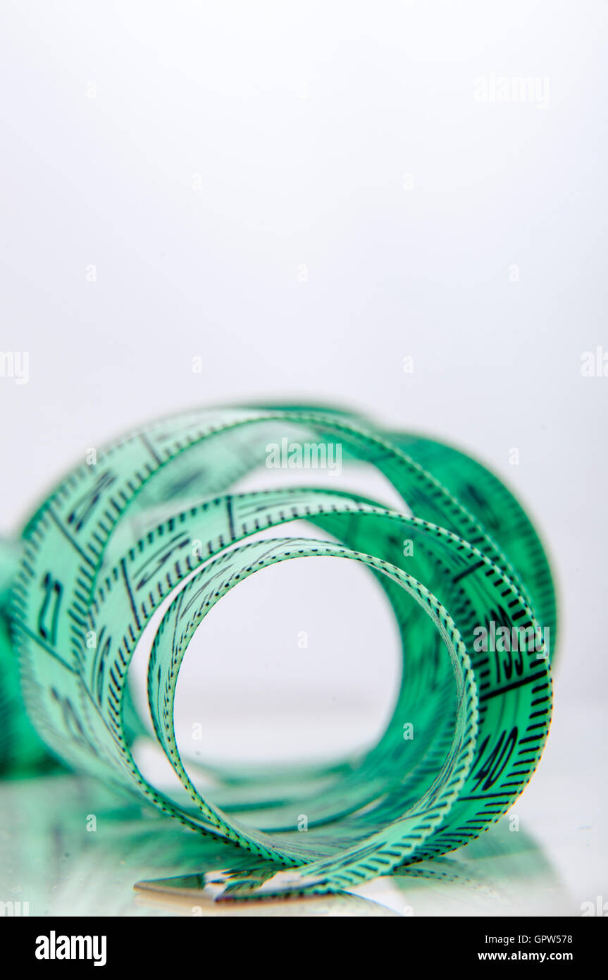 Green centimeter - Stock Image