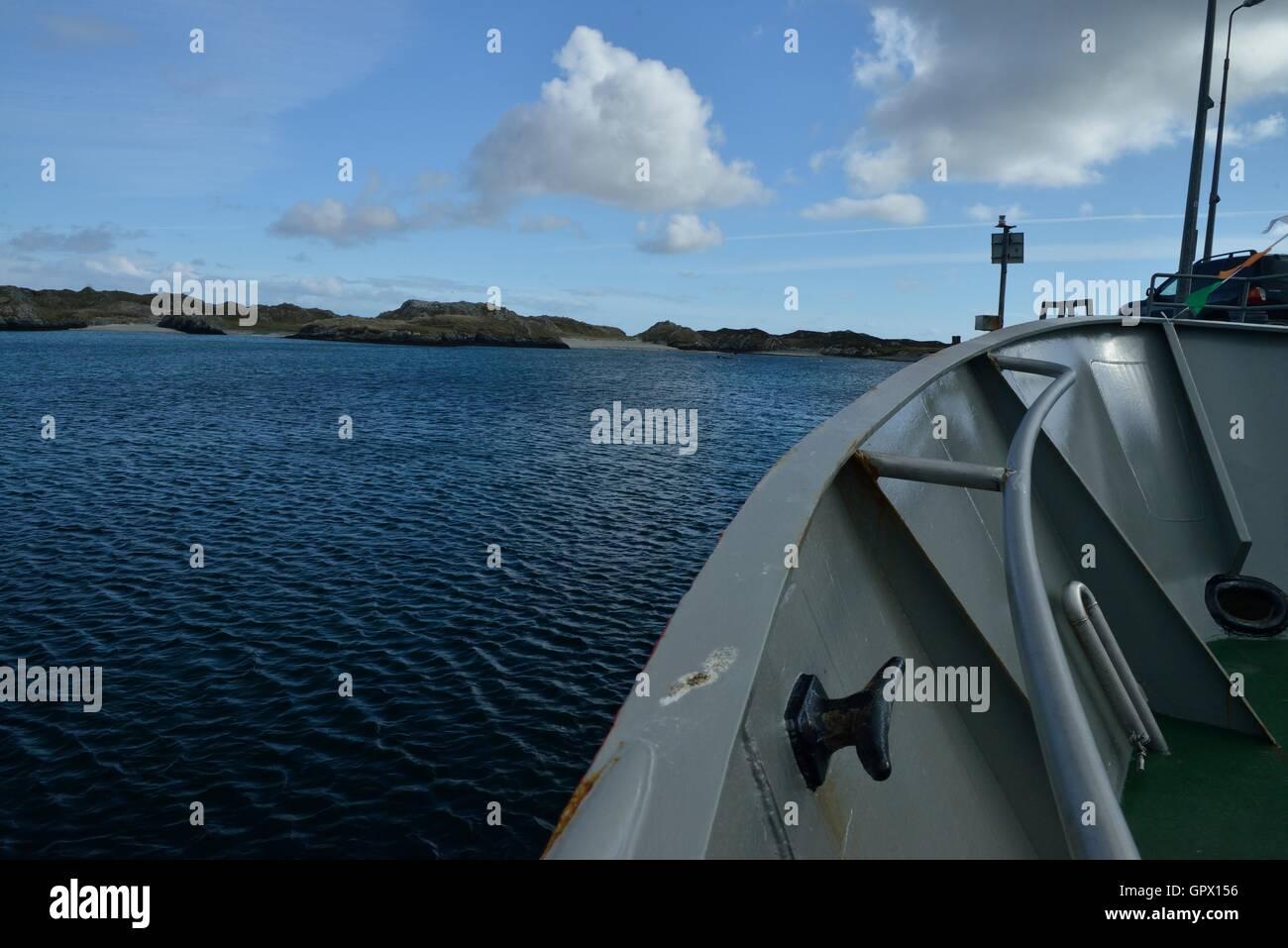 The island of Inishboffin off the coast of Ireland. Île de Inishboffin au large des côtes irlandaises.Het - Stock Image