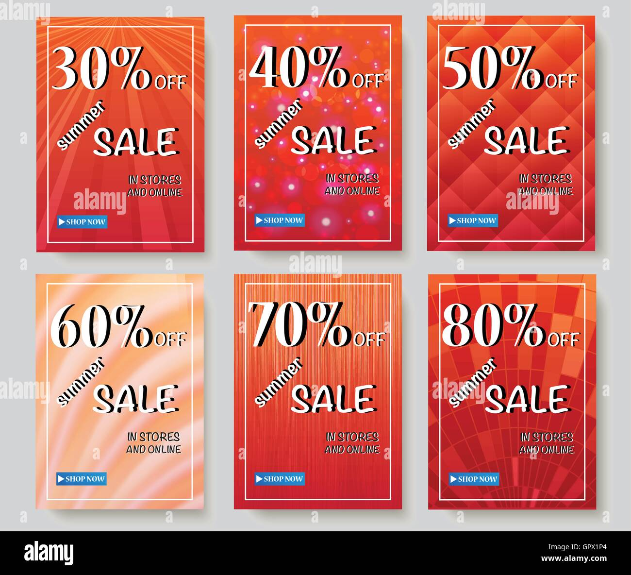Social media sale banners and ads web template collection. Vector illustrations for website and mobile website banners, - Stock Image