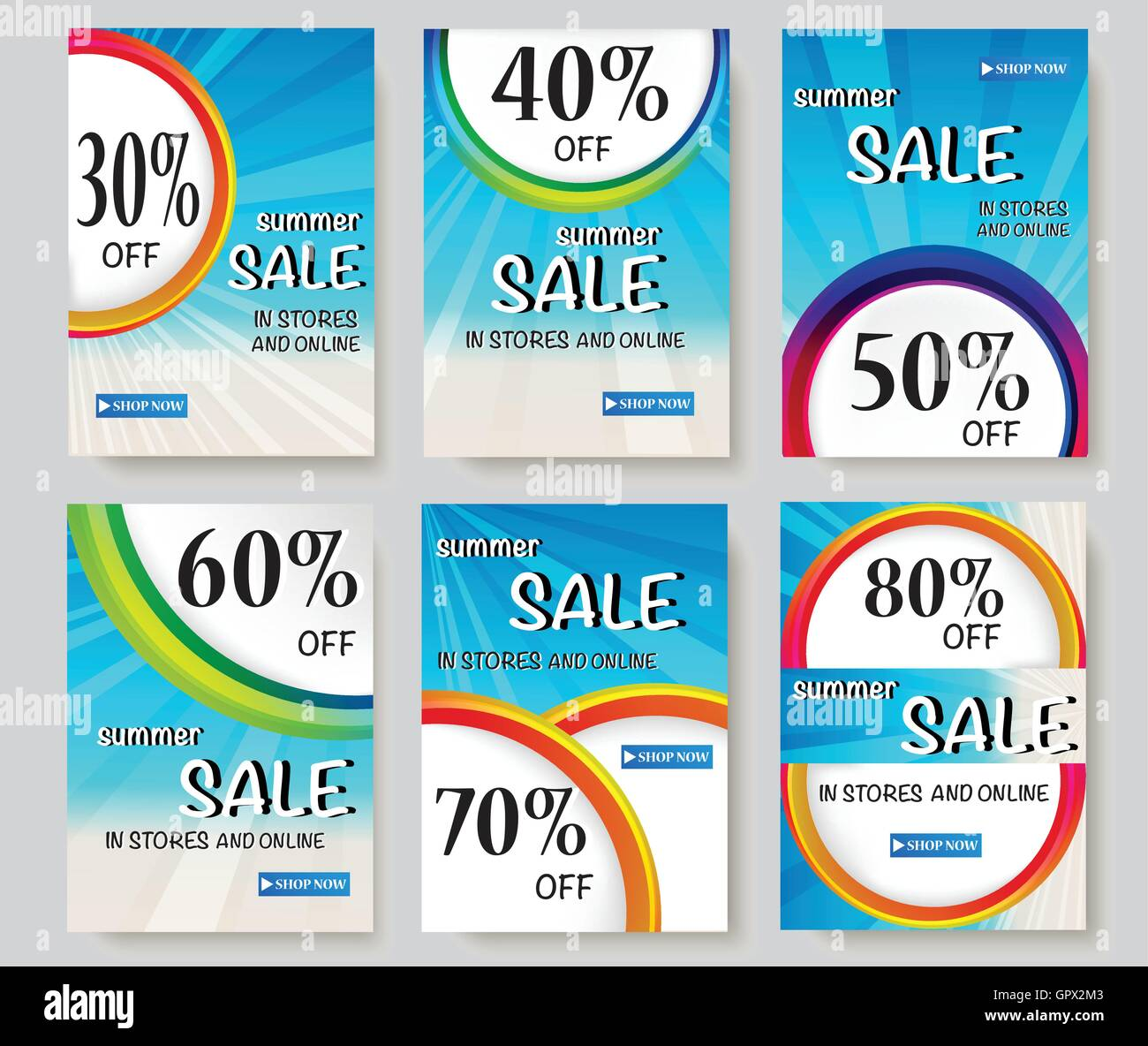 Social Media Sale Banners And Ads Web Template Collection Vector