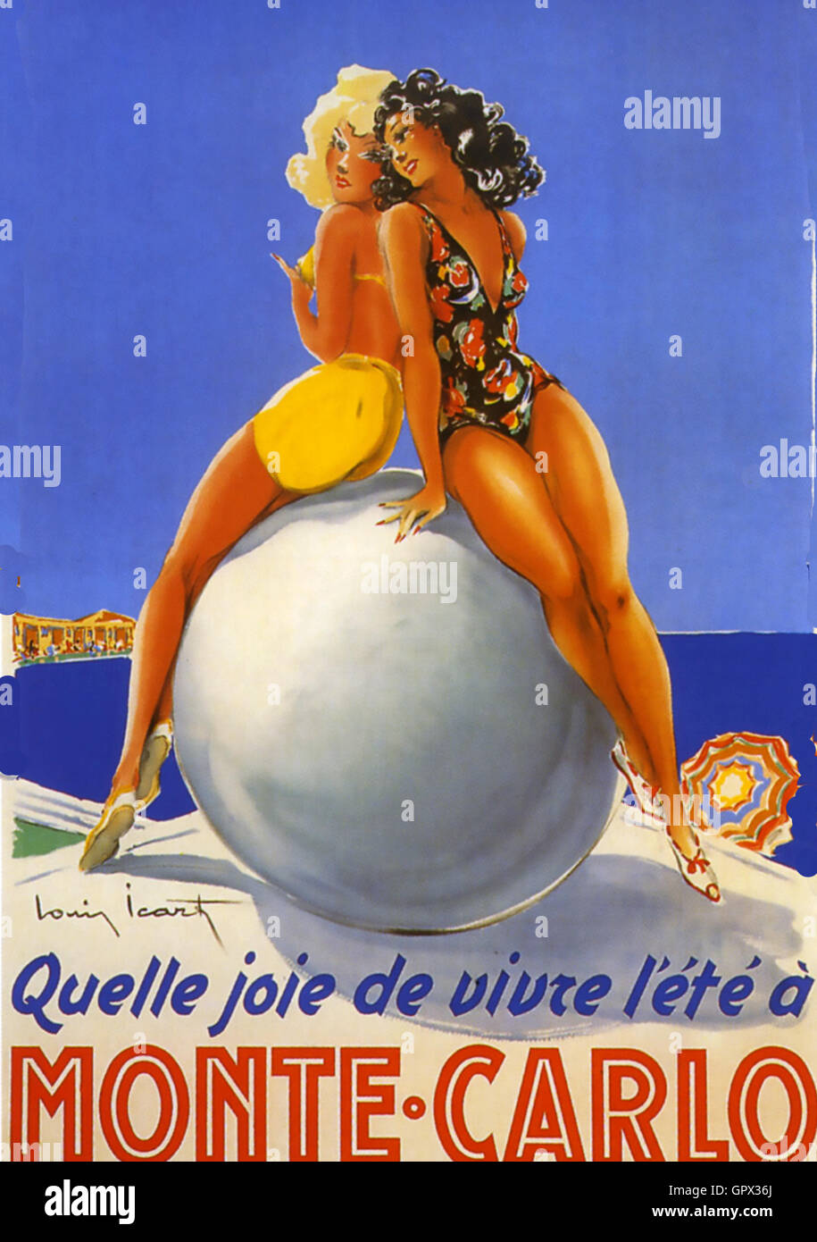 MONTE CARLO promotional poster about 1955 - Stock Image