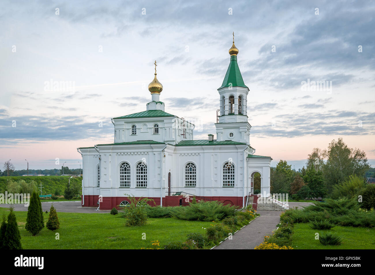 Pokrovskaya old church in Polotsk, Belarus - Stock Image