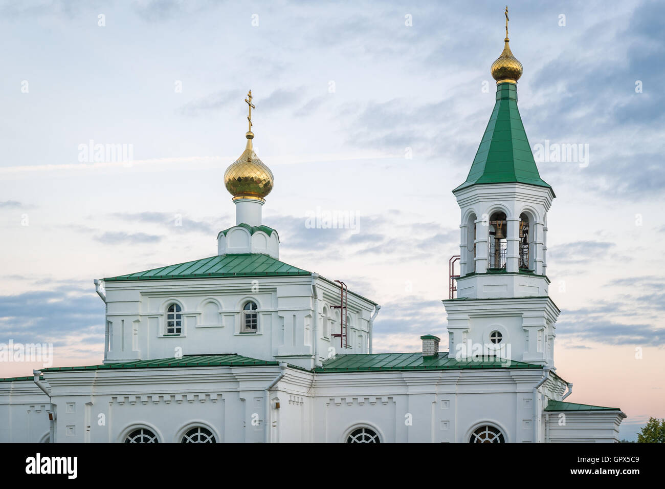 Close view on old orthodox church in Belarus - Stock Image