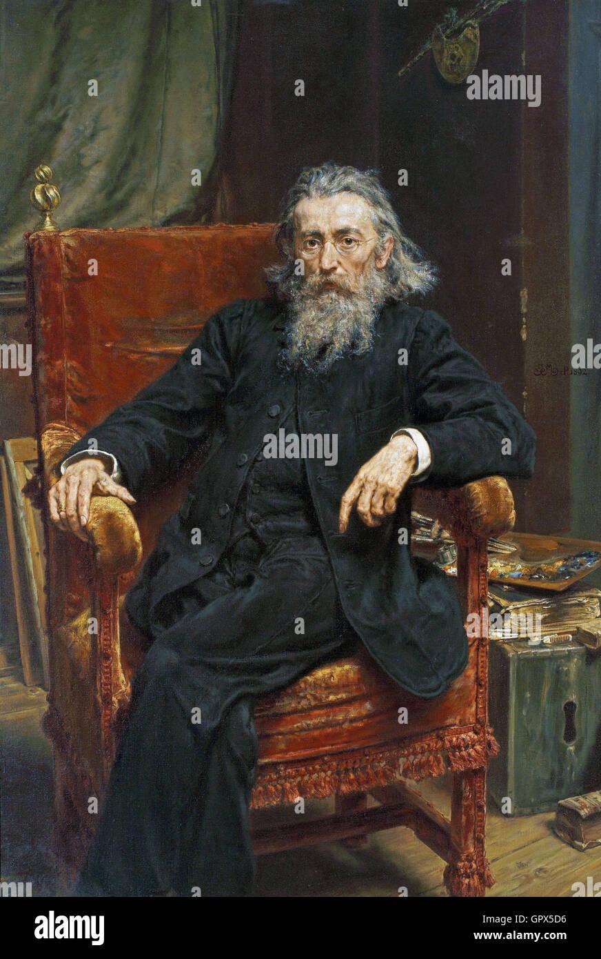 Jan Matejko Self-portrait - Stock Image