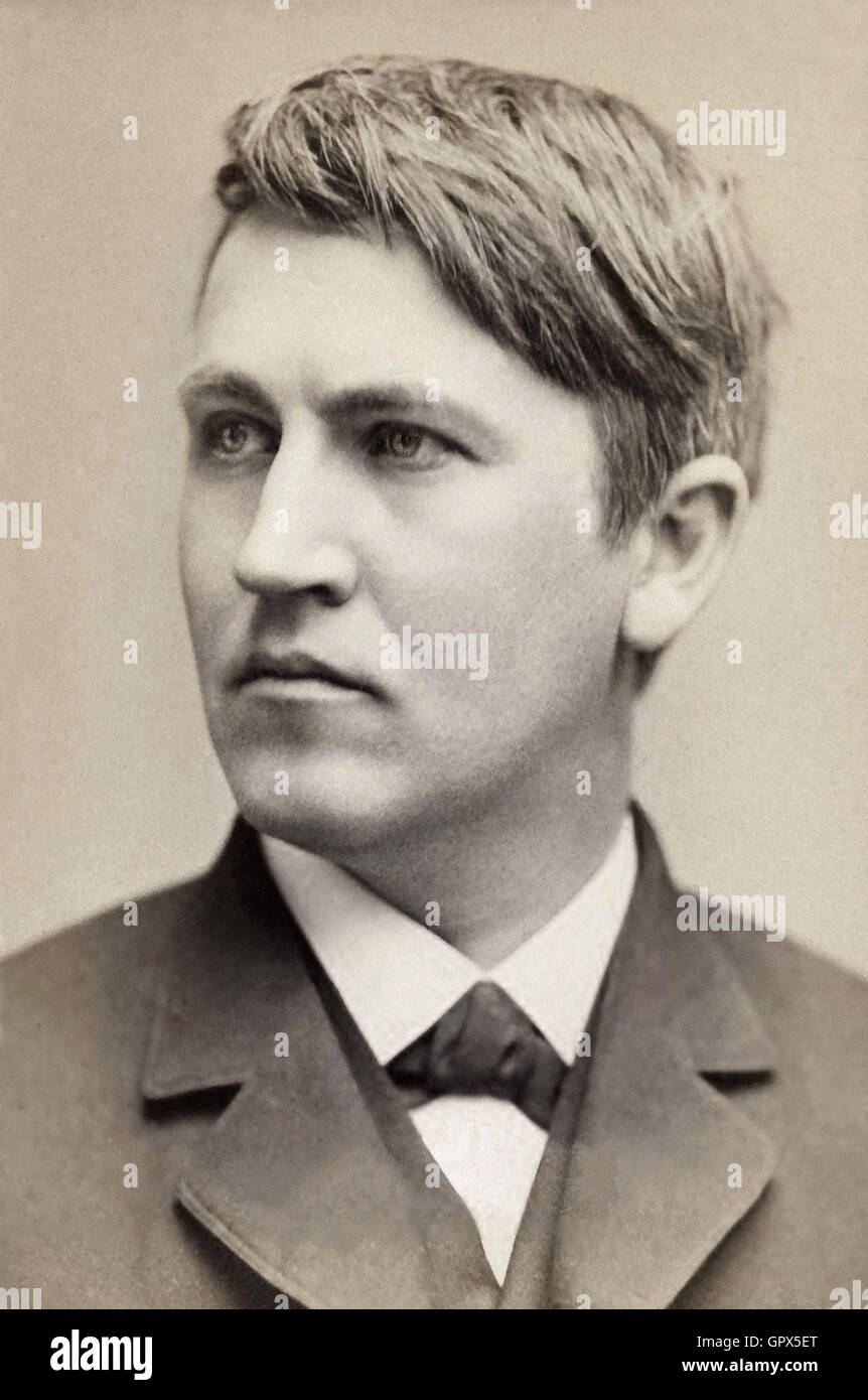 Thomas Edison, 1878 Photographic portrait - Stock Image