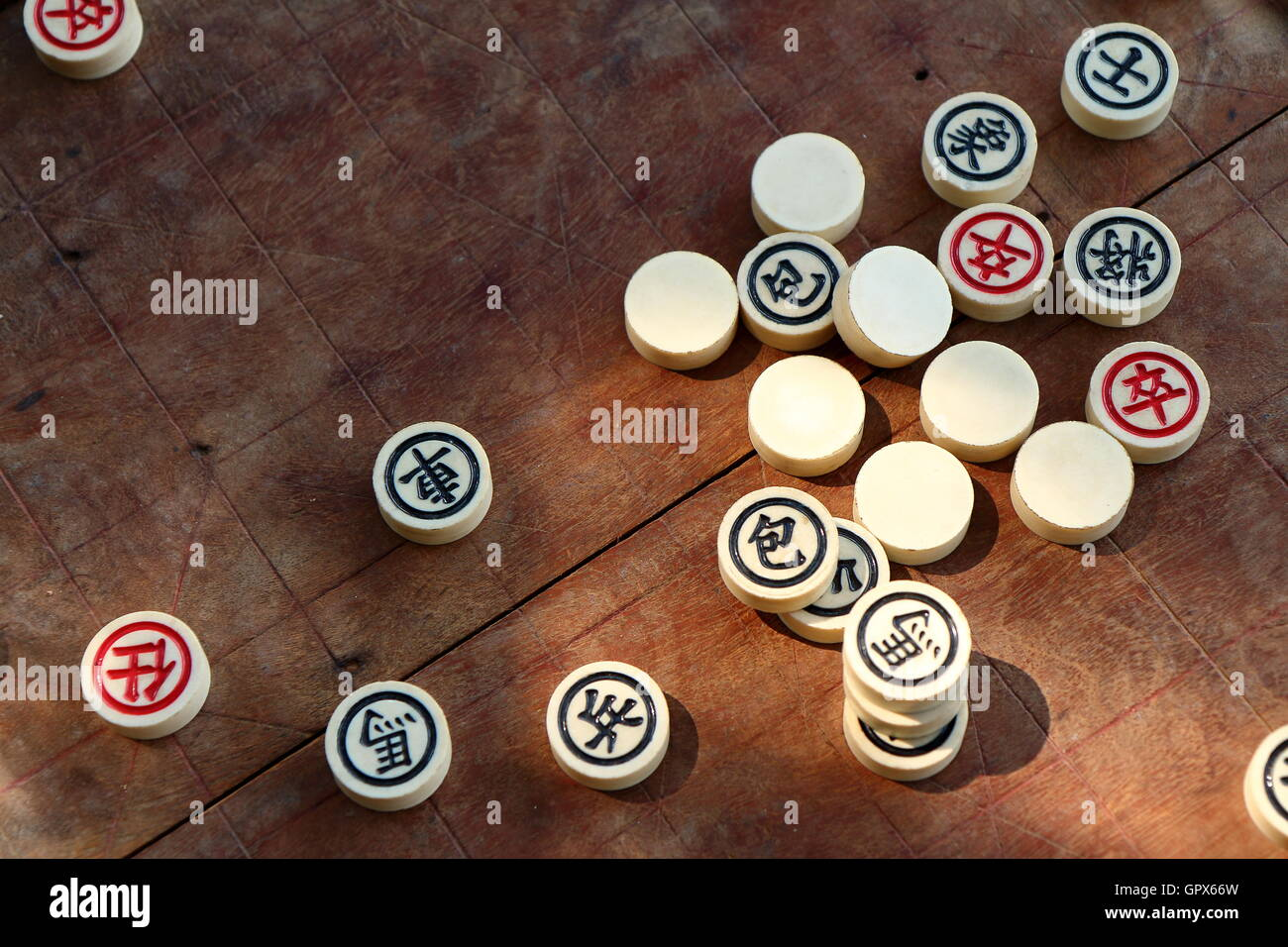 Chinese chess game - Stock Image