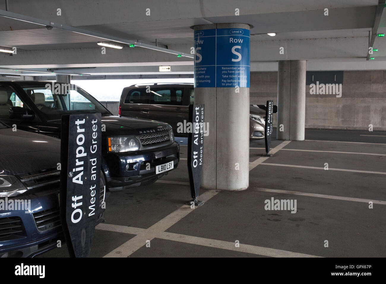 Heathrow Terminal 5 Valet Parking Car Park Stock Photo 117360314