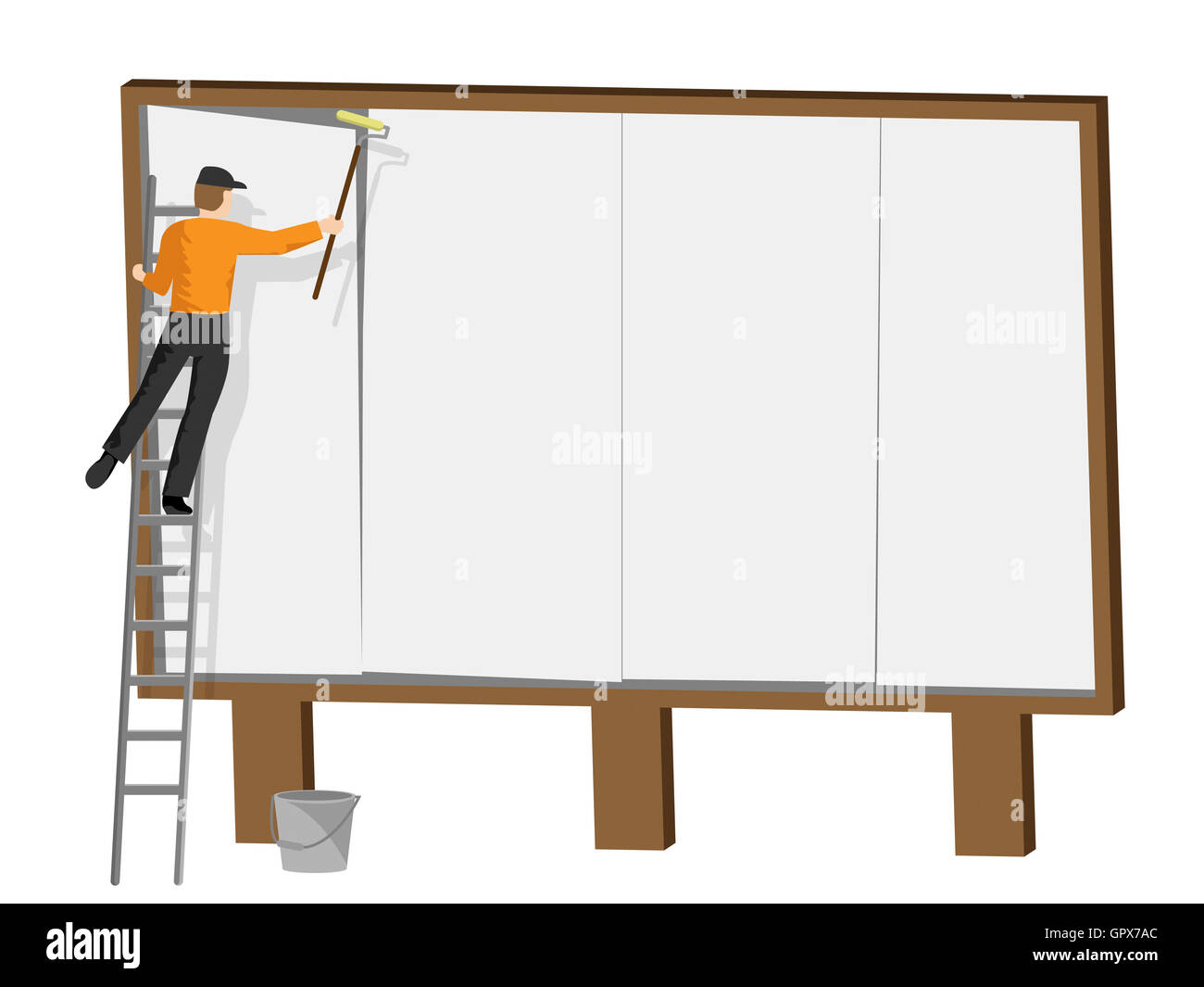 Copyspace Billboard Showing Signs Promote And Blank - Stock Image