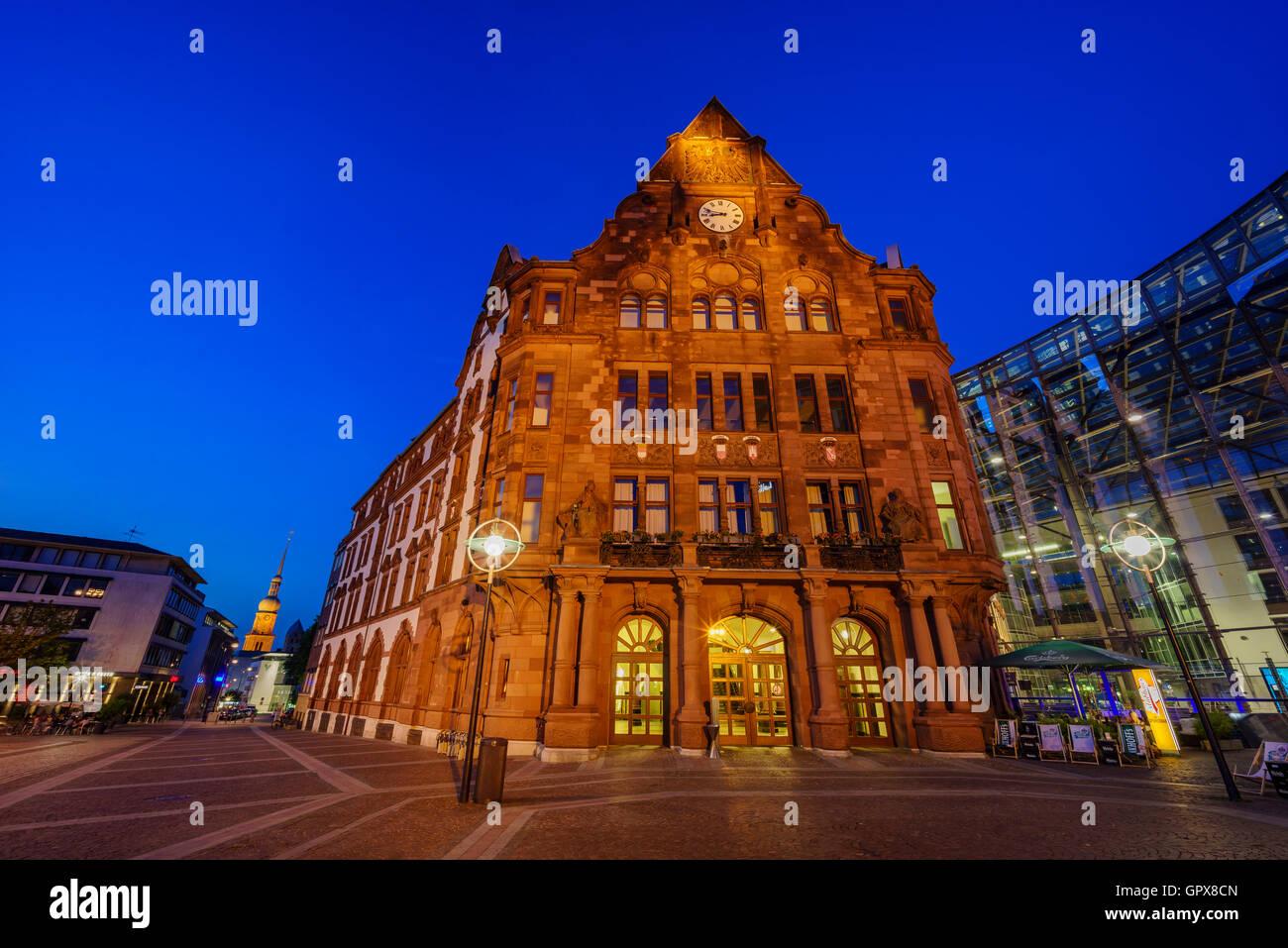 Dortmund, AUG 31: The beautiful Standesamt Dortmund on AUG 31, 2016 at Dortmund, Germany - Stock Image