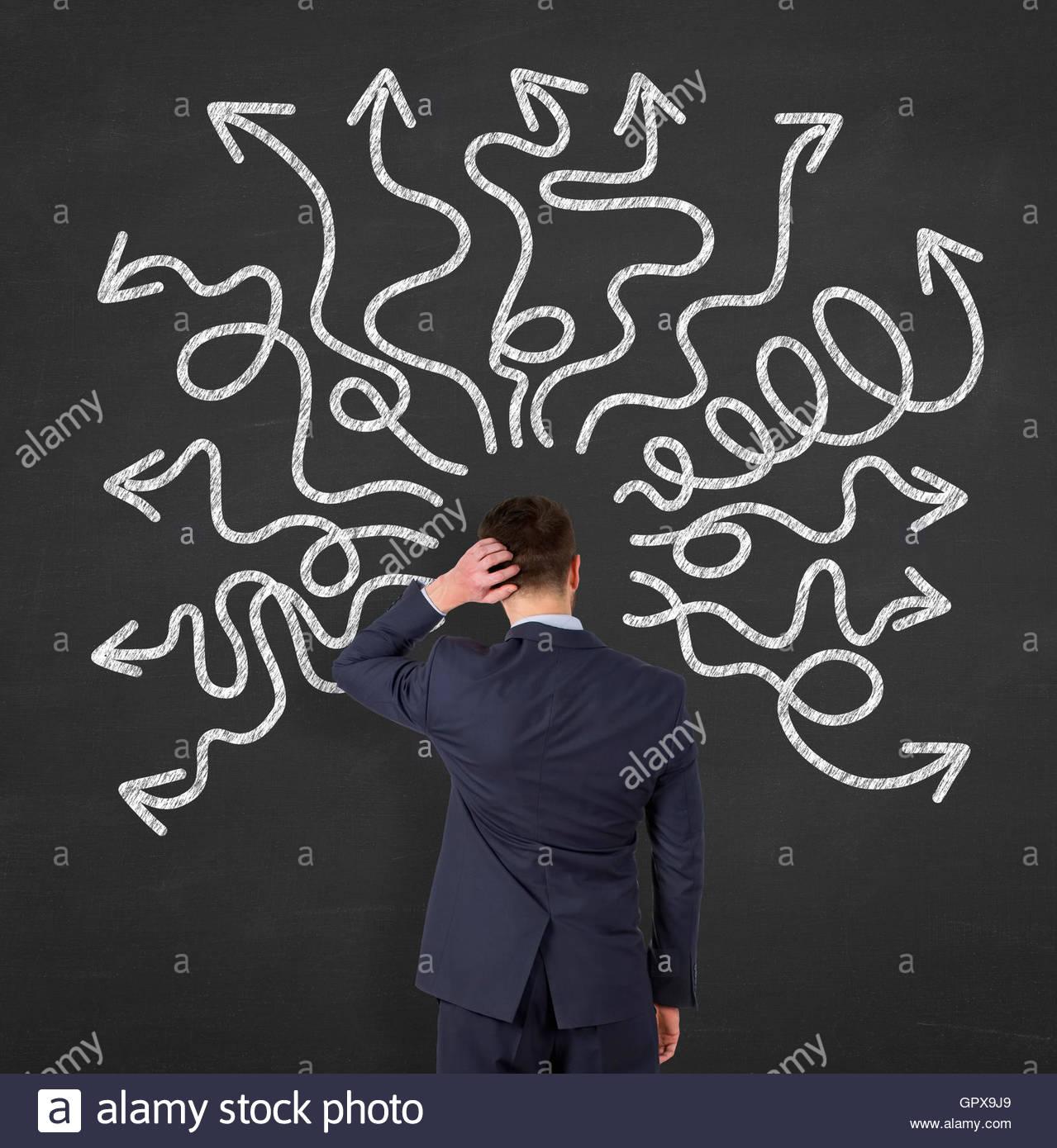 instability on Blackboard - Stock Image