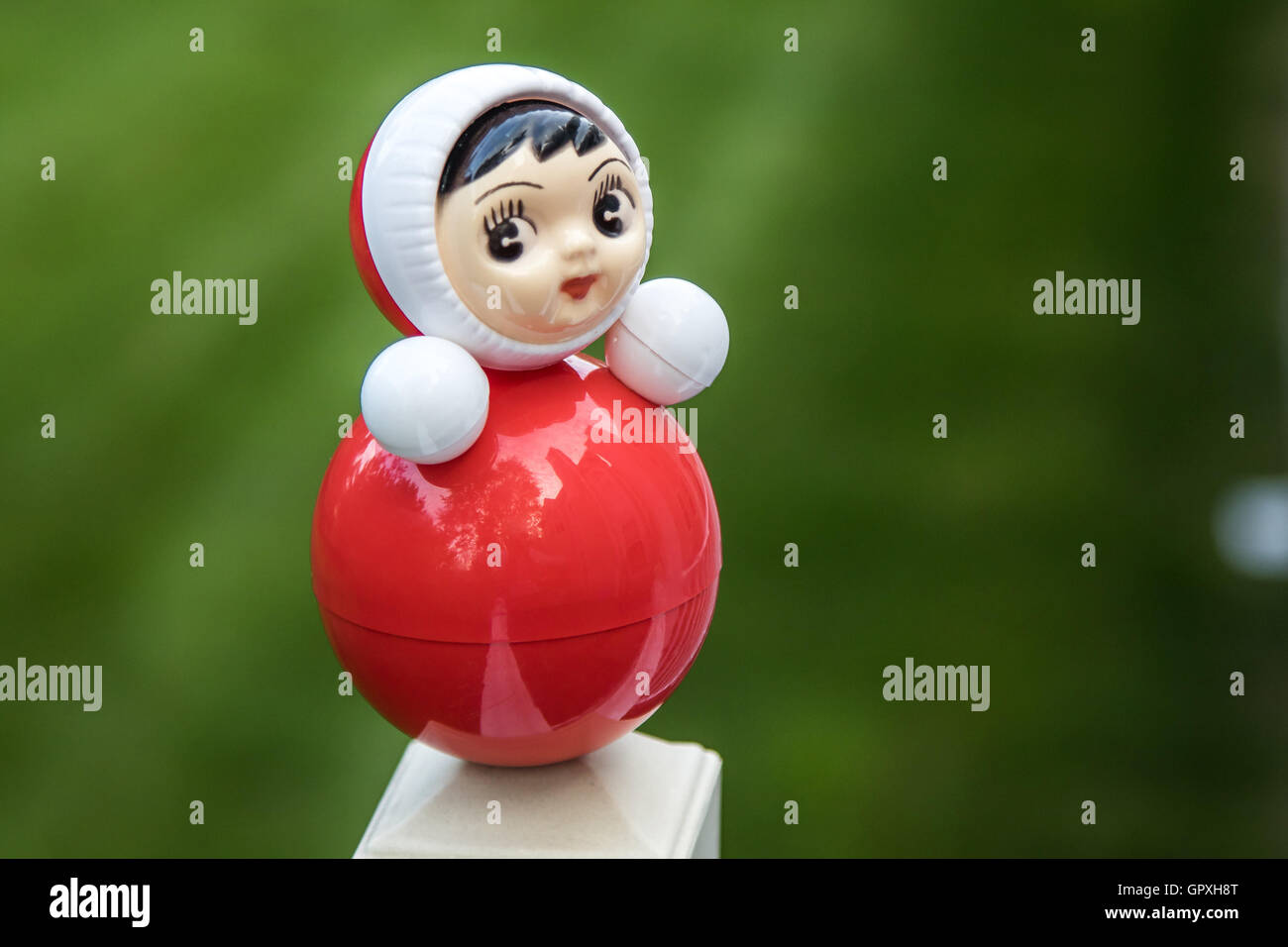 A roly-poly doll. - Stock Image
