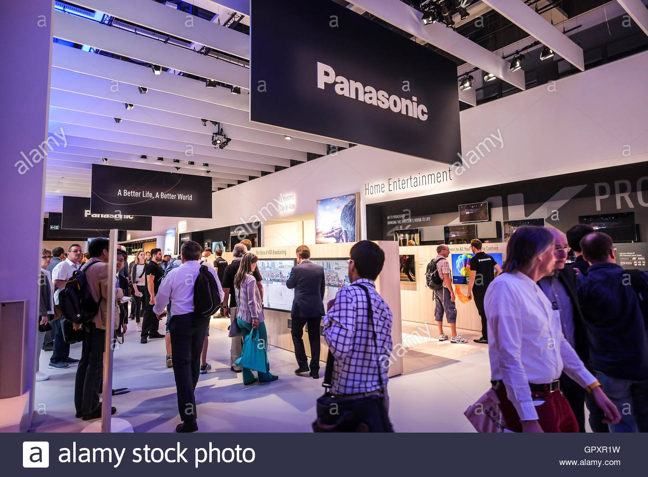 Panasonic exhibition at IFA 2016 in Berlin - Stock Image