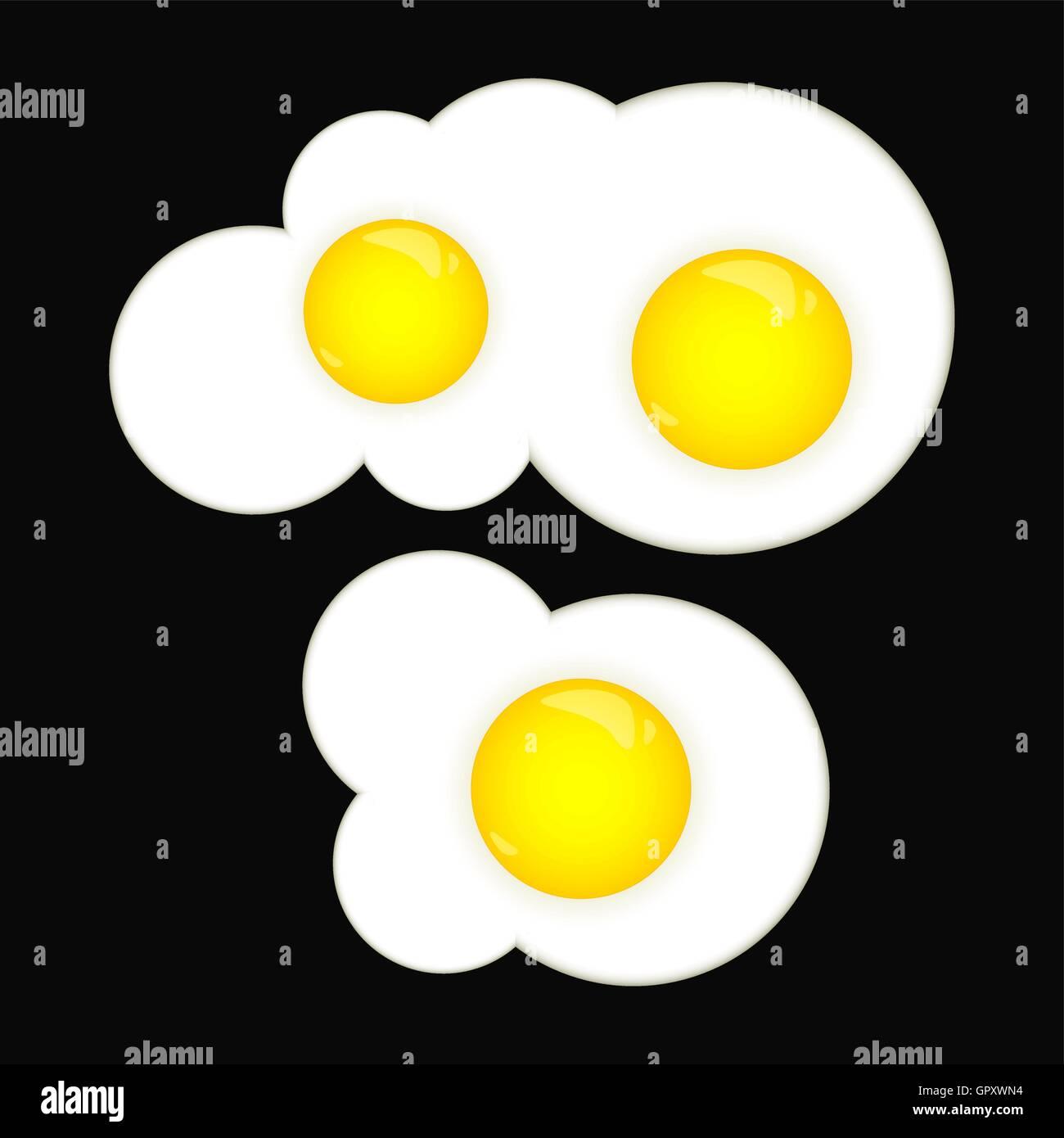 Fried eggs - Stock Vector
