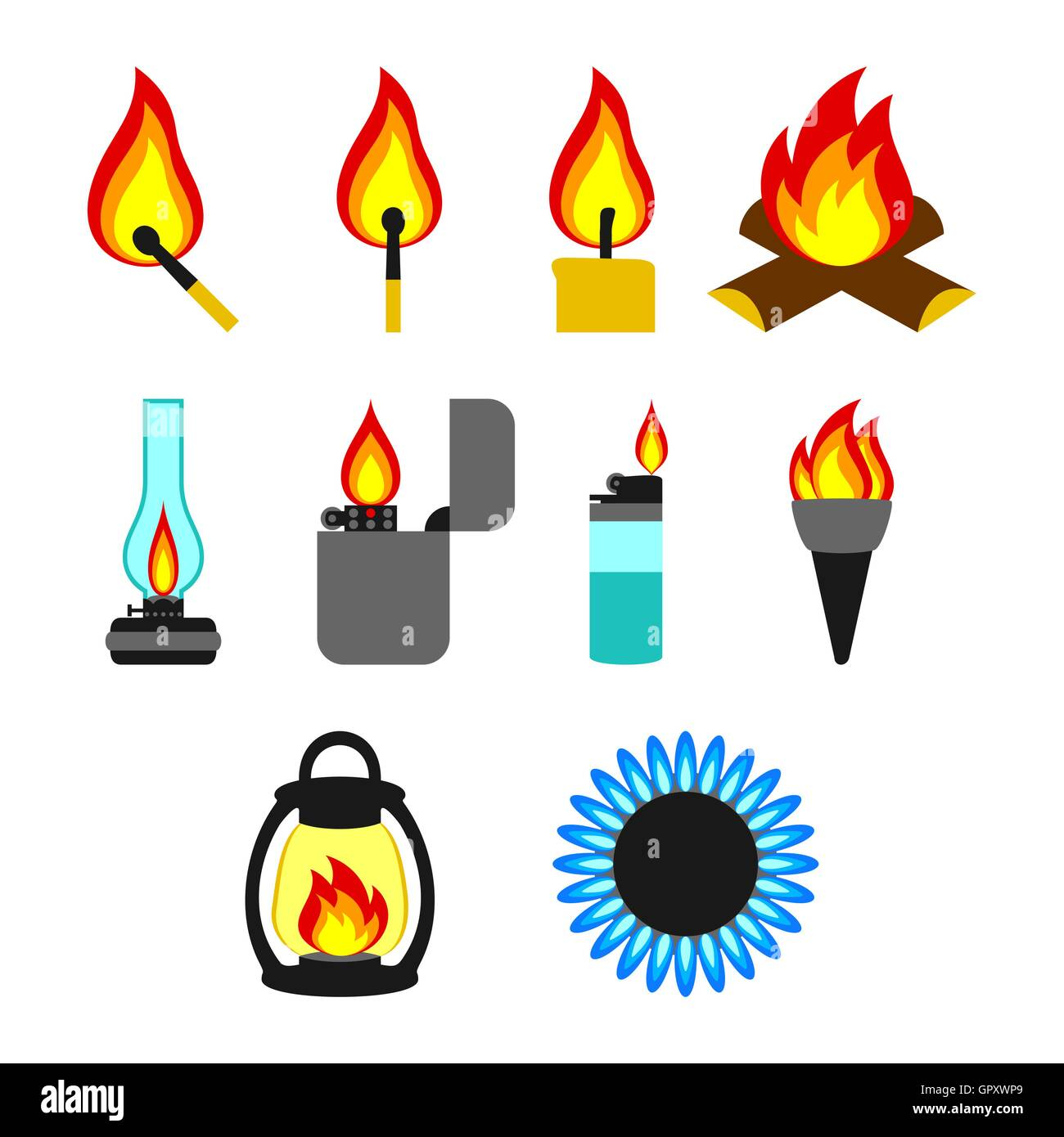 Objects giving fire - Stock Image