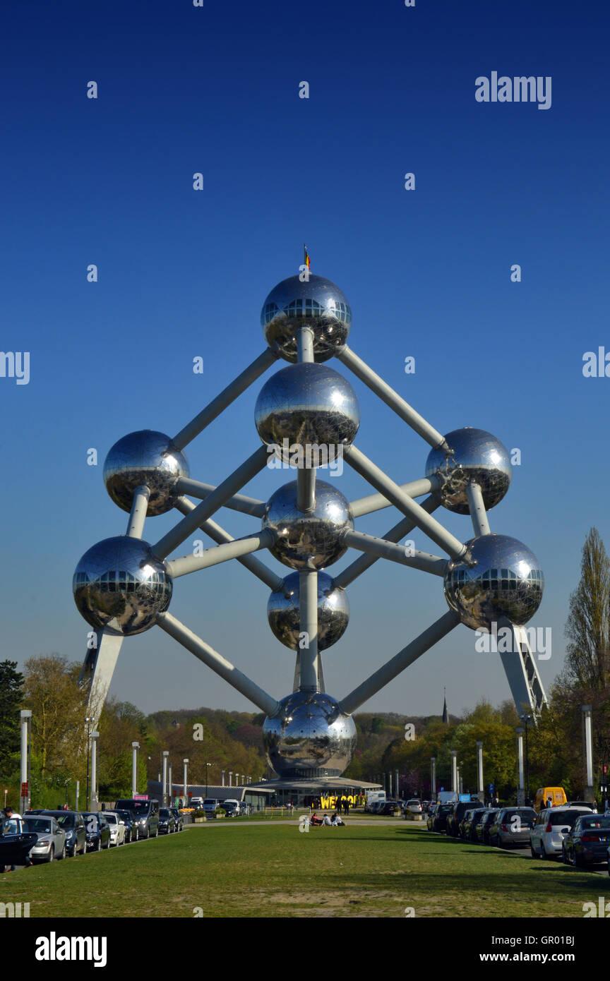 The Atomium, Brussels, Belgium - Stock Image