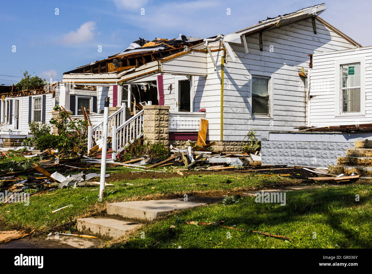 Kokomo - August 24, 2016: Several EF3 tornadoes touched down in a residential neighborhood causing widespread damage - Stock Image