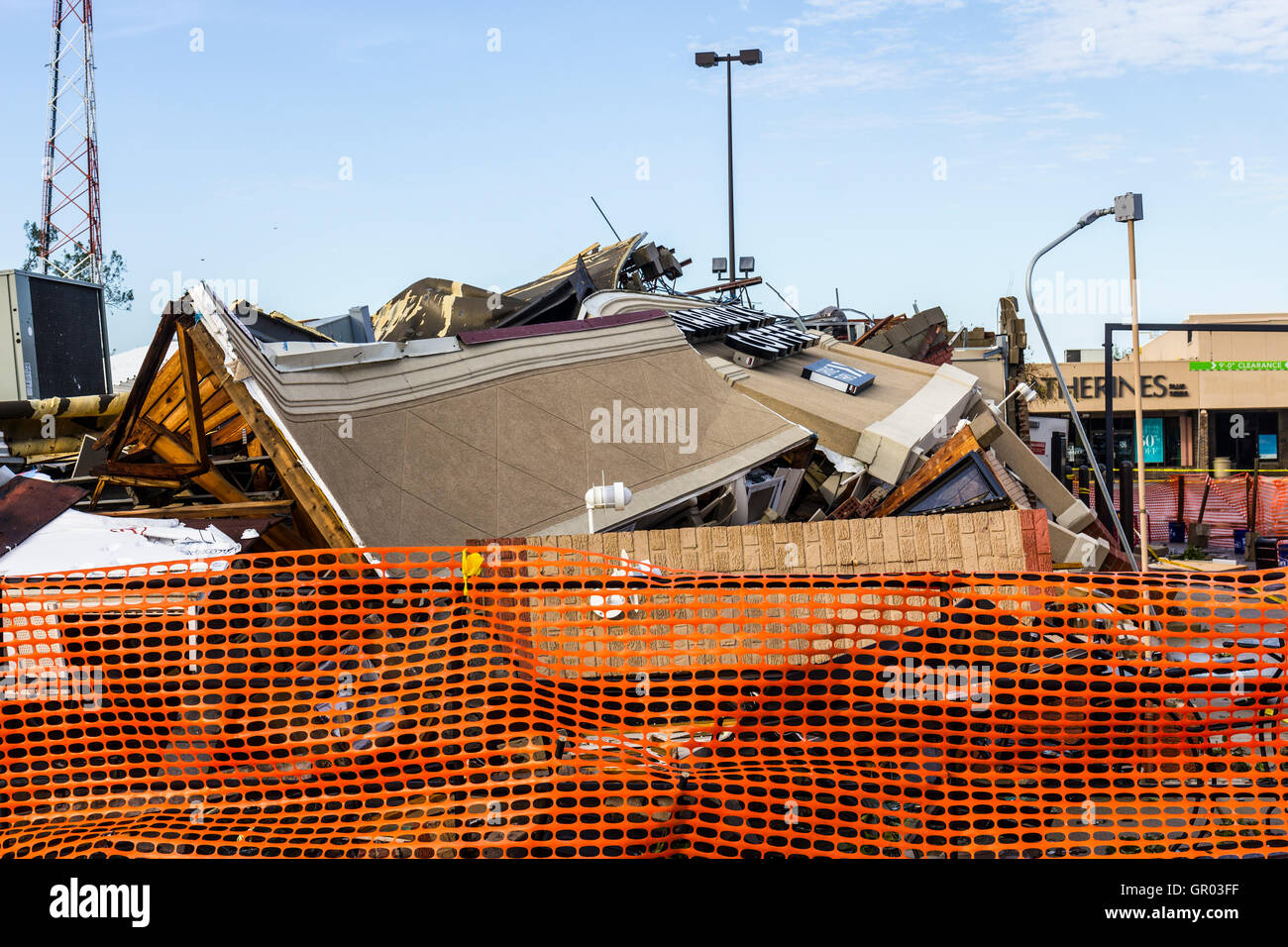 Kokomo - August 24, 2016: Several EF3 tornadoes touched down, one of which destroyed a local Starbucks 4 - Stock Image