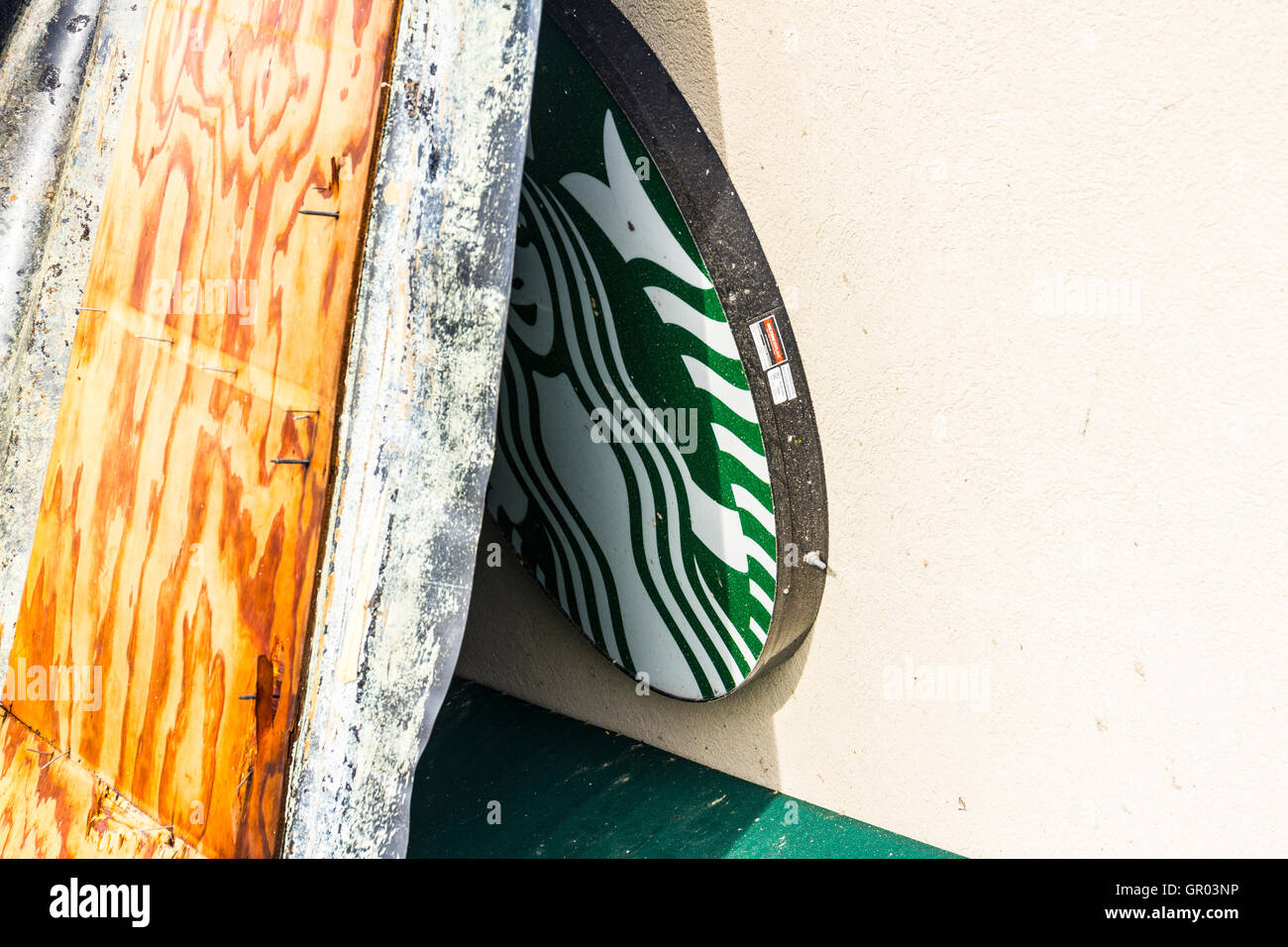 Kokomo - August 24, 2016: Several EF3 tornadoes touched down, one of which destroyed a local Starbucks 19 - Stock Image