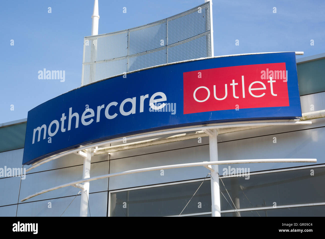 Mothercare outlet signage - Stock Image