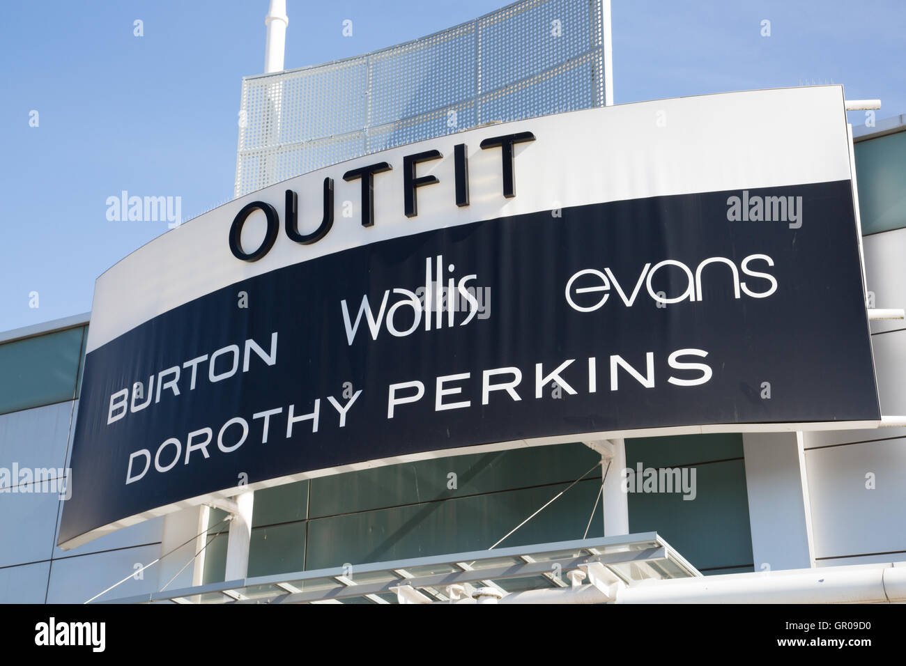 Outfit signage - Stock Image