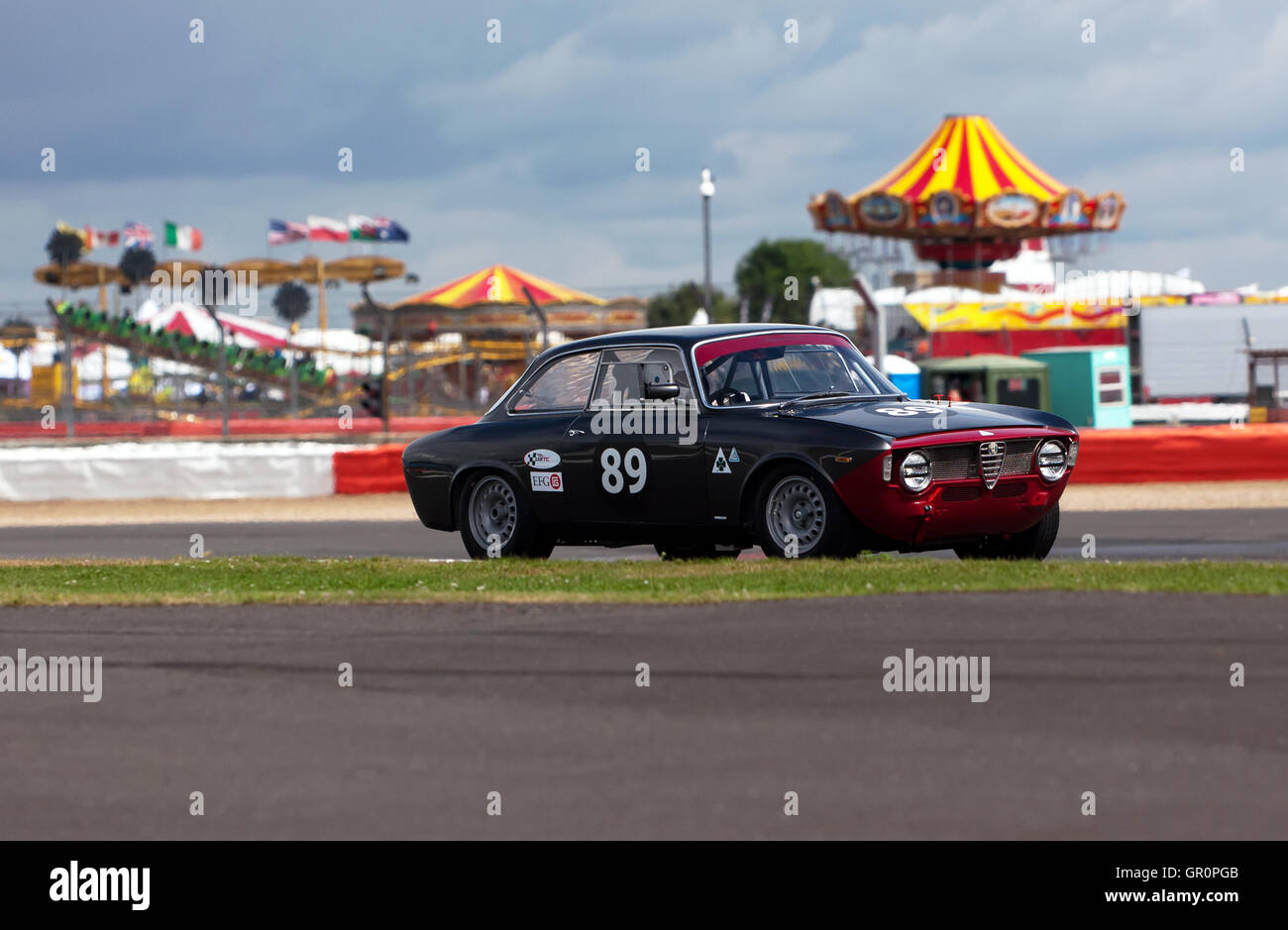 Andrew Banks in a 1965 Alfa Romeo Giulia Sprint GTA, qualifying for the John Fitzpatrick Trophy for Under 2 litre - Stock Image