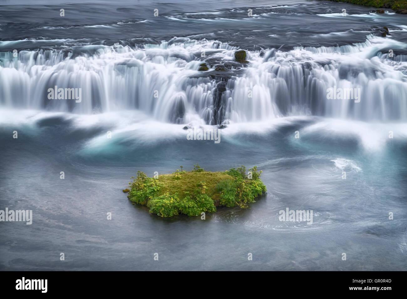 Faxi waterfall, Golden Circle, Reykjavik, Iceland - Stock Image