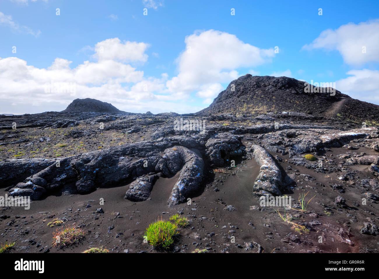 crater, Stampar, Reykjanes, Reykjavik, Iceland - Stock Image