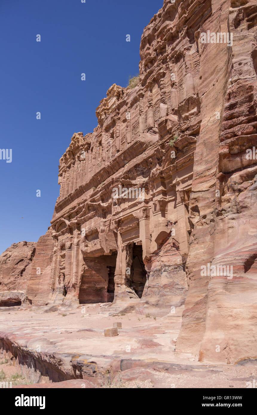 The Palace tomb  of the Royal Tombs, Petra , Jordan - Stock Image