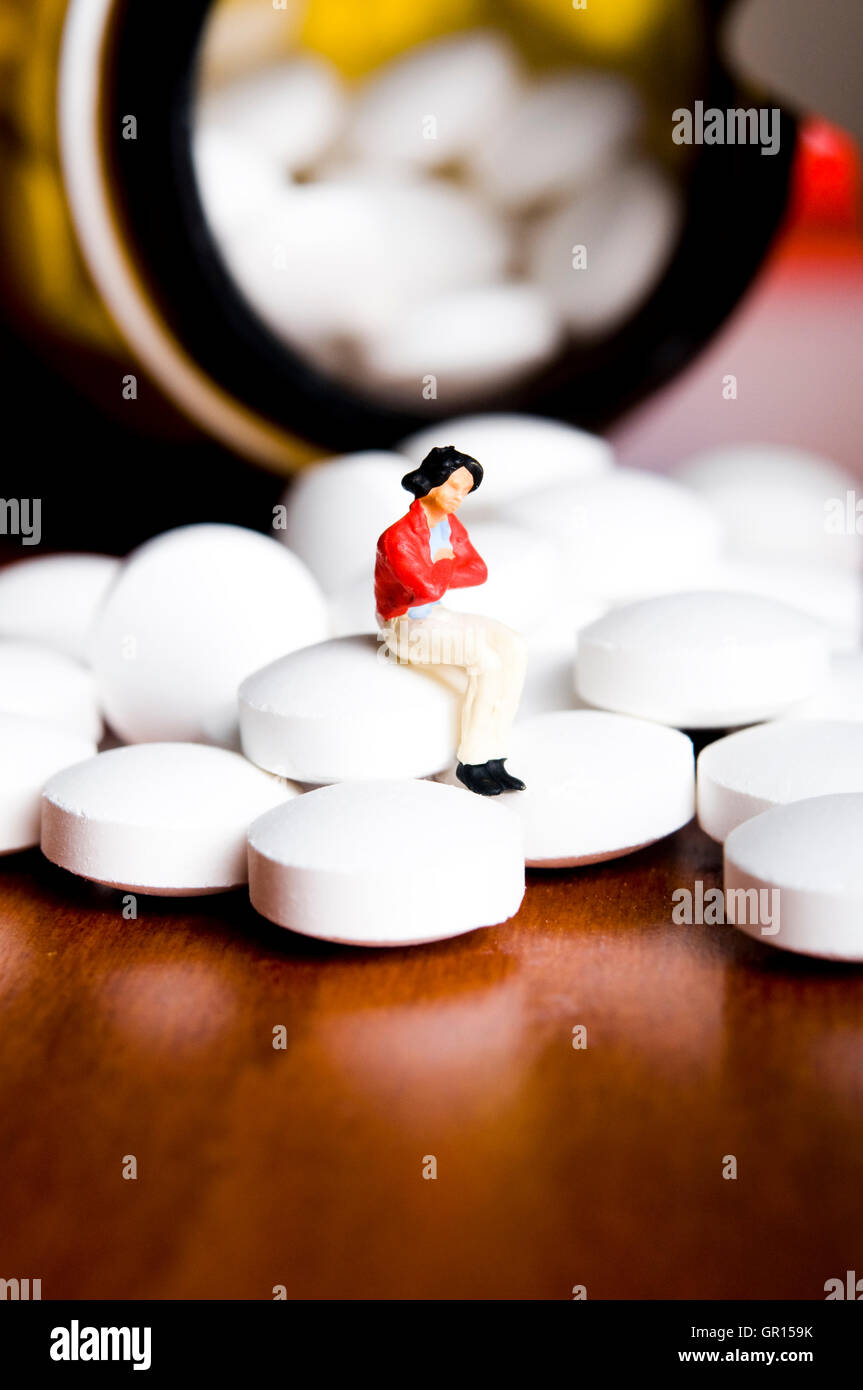 pharmaceutic and health care concept - Stock Image