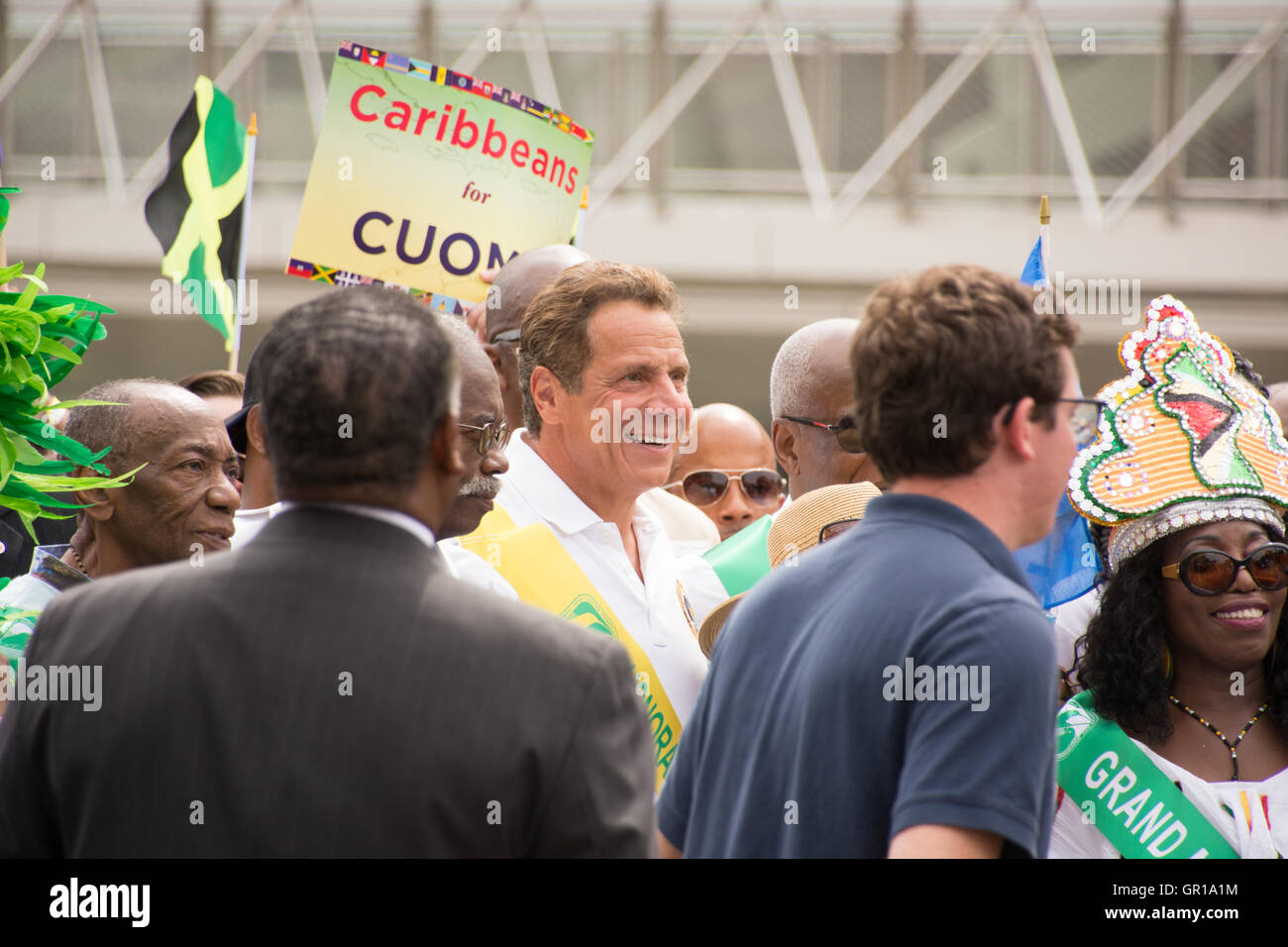 New York, NY. 5th September, 2016. New York Governor Andrew Cuomo greets the crowd. More than a million enjoyed - Stock Image