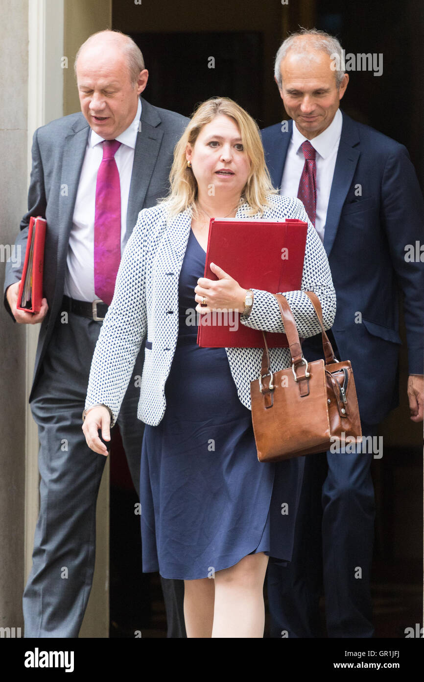 London, UK. 6th September, 2016. Secretary of State for Culture, Media and Sport Karen Bradley leads Work and Pensions - Stock Image